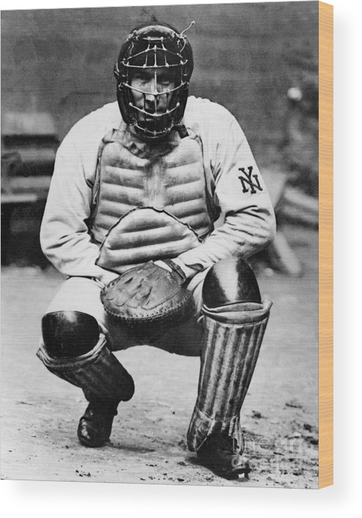Baseball Catcher Wood Print featuring the photograph National Baseball Hall Of Fame Library by National Baseball Hall Of Fame Library