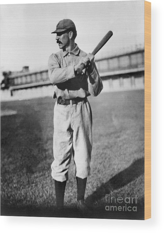 Sports Bat Wood Print featuring the photograph National Baseball Hall Of Fame Library by National Baseball Hall Of Fame Library