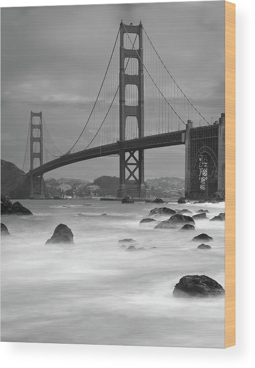 Tranquility Wood Print featuring the photograph Baker Beach Impressions by Sebastian Schlueter (sibbiblue)