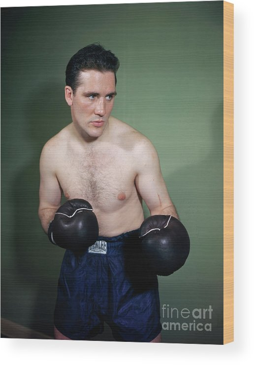 People Wood Print featuring the photograph Billy Conn Posing In Boxing Attire by Bettmann