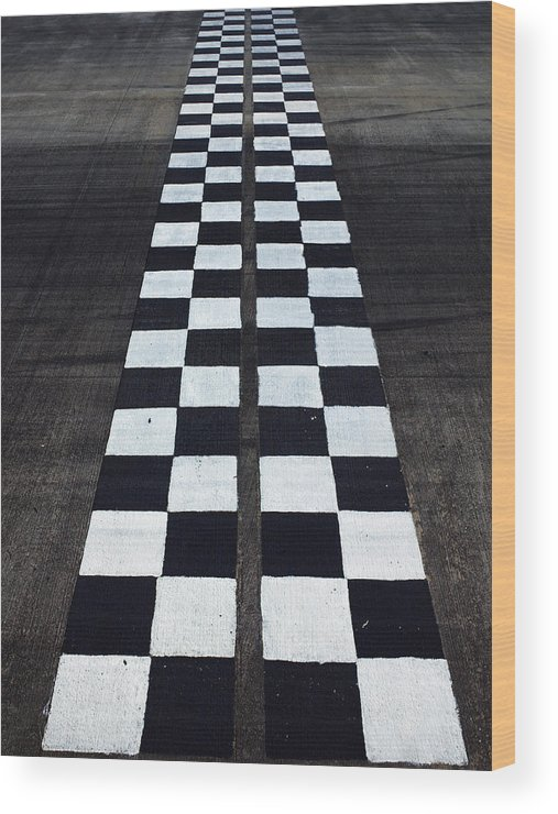 Finish Line Wood Print featuring the photograph Black And White Finish Line by Win-initiative/neleman