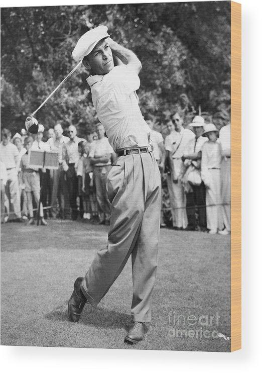 Following Wood Print featuring the photograph Champion Golfer Ben Hogan by Bettmann