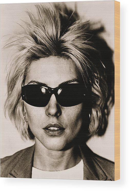 Rock Music Wood Print featuring the photograph Debbie Harry Portrait Session by George Rose