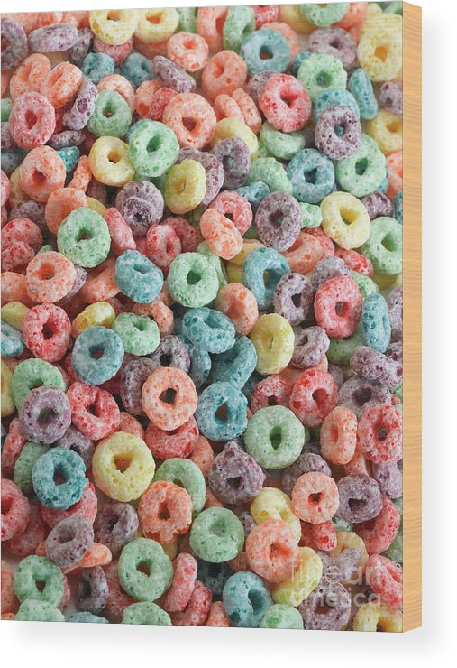 Breakfast Wood Print featuring the photograph Fruit Cereal by Adshooter