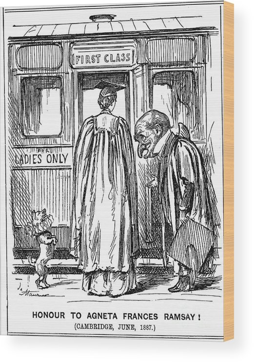 Engraving Wood Print featuring the drawing Honour To Agneta Frances Ramsay by Print Collector