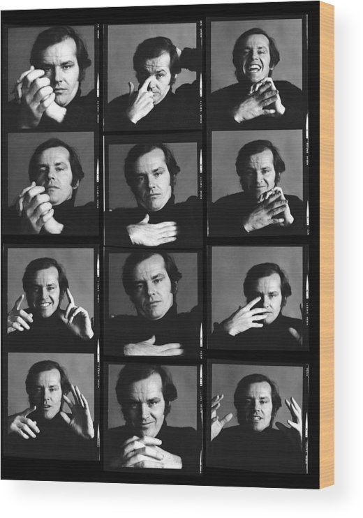 People Wood Print featuring the photograph Jack Nicholson Contact Sheet by Jack Robinson