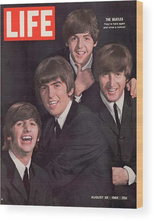 Magazine Cover Wood Print featuring the photograph Life Magazine Cover August 28, 1964 by John Dominis