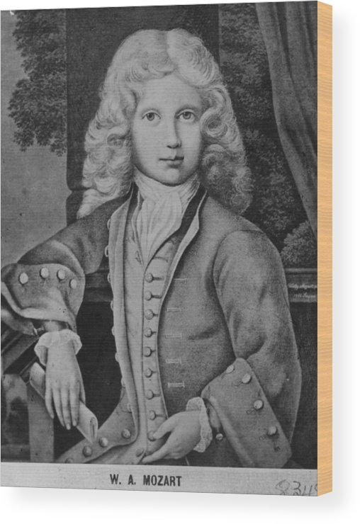 Child Wood Print featuring the digital art Mozart As Child by Hulton Archive