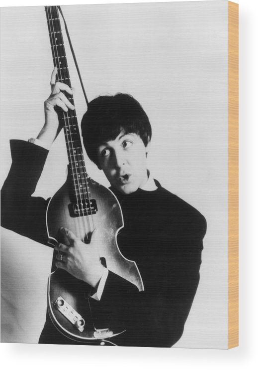 Paul Mccartney Wood Print featuring the photograph Paul Mccartney by Express