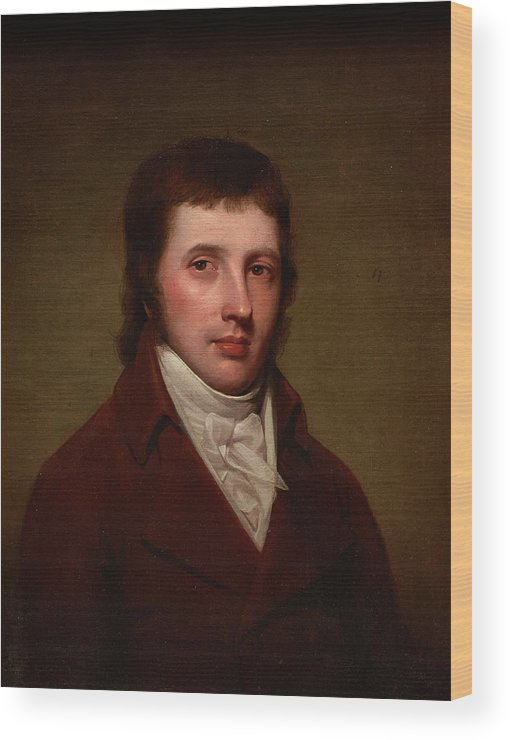Portrait Of A Man Wood Print featuring the painting Portrait Of A Man by Rembrandt Peale