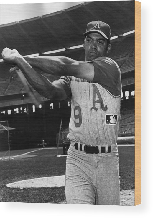 People Wood Print featuring the photograph Reggie Jackson by Hulton Archive