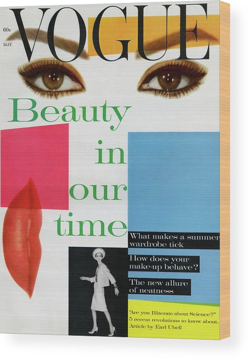 Fashion Wood Print featuring the photograph Vogue Magazine May 01, 1961 Cover by Vogue Staff