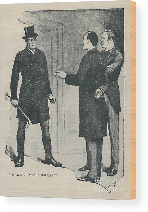 19th Century Style Wood Print featuring the drawing Which Of You Is Holmes by Print Collector