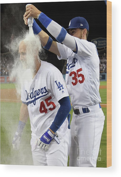 Three Quarter Length Wood Print featuring the photograph Cody Bellinger by Harry How