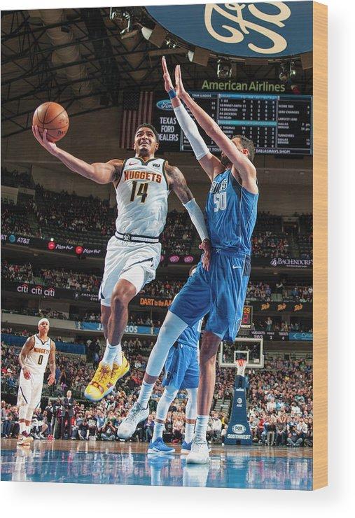 Nba Pro Basketball Wood Print featuring the photograph Gary Harris by Glenn James