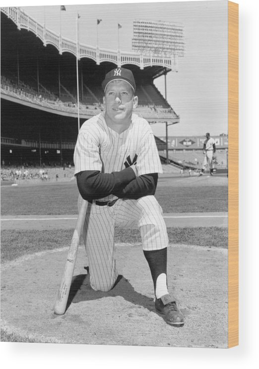 People Wood Print featuring the photograph Mickey Mantle by Louis Requena