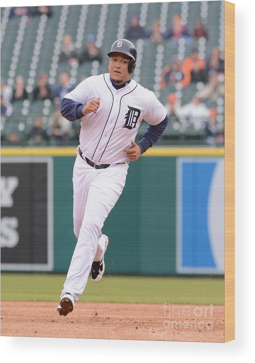 People Wood Print featuring the photograph Miguel Cabrera by Mark Cunningham
