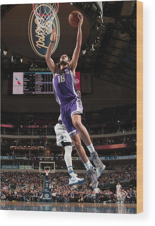 Nba Pro Basketball Wood Print featuring the photograph Omri Casspi by Glenn James