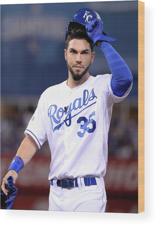Playoffs Wood Print featuring the photograph Eric Hosmer by Ron Vesely