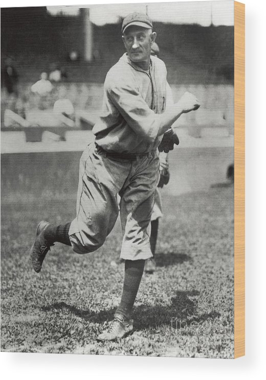 Sports Ball Wood Print featuring the photograph Honus Wagner by National Baseball Hall Of Fame Library