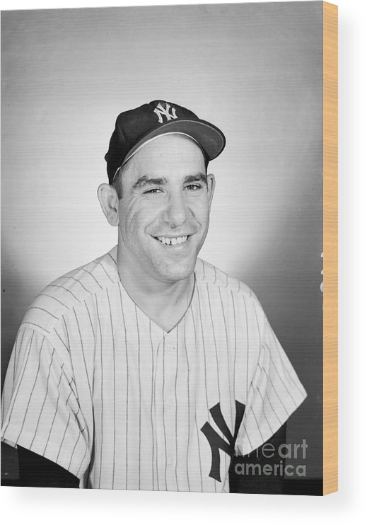 People Wood Print featuring the photograph Yogi Berra by Olen Collection