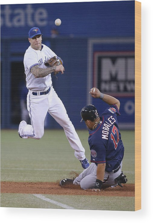 Double Play Wood Print featuring the photograph Jay Rogers by Tom Szczerbowski