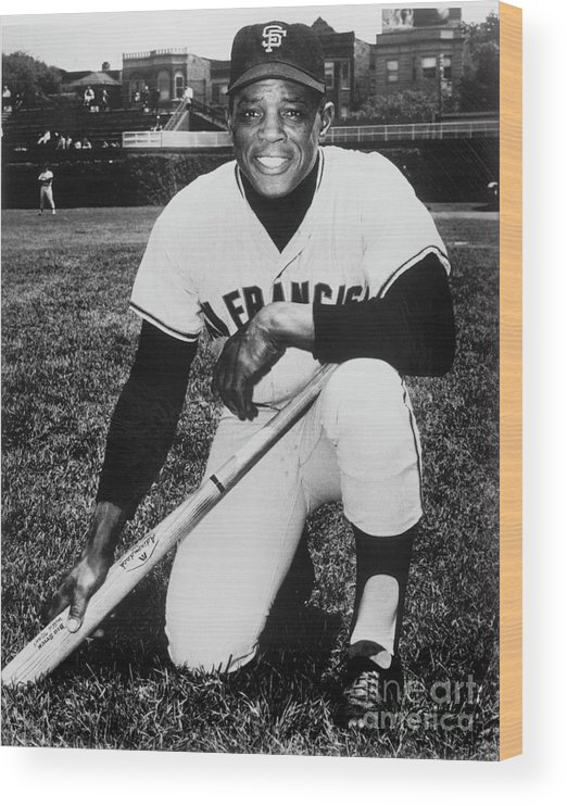 People Wood Print featuring the photograph Willie Mays by National Baseball Hall Of Fame Library