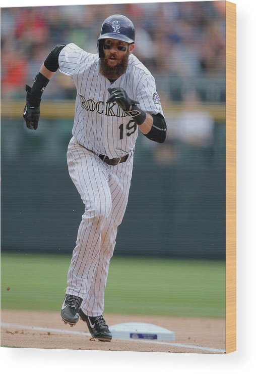 People Wood Print featuring the photograph Charlie Blackmon by Doug Pensinger