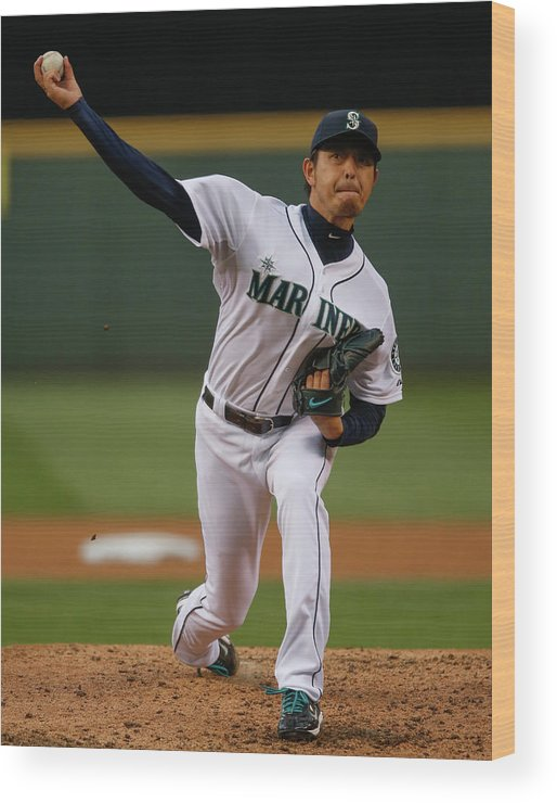 Hisashi Iwakuma Wood Print featuring the photograph Hisashi Iwakuma by Otto Greule Jr