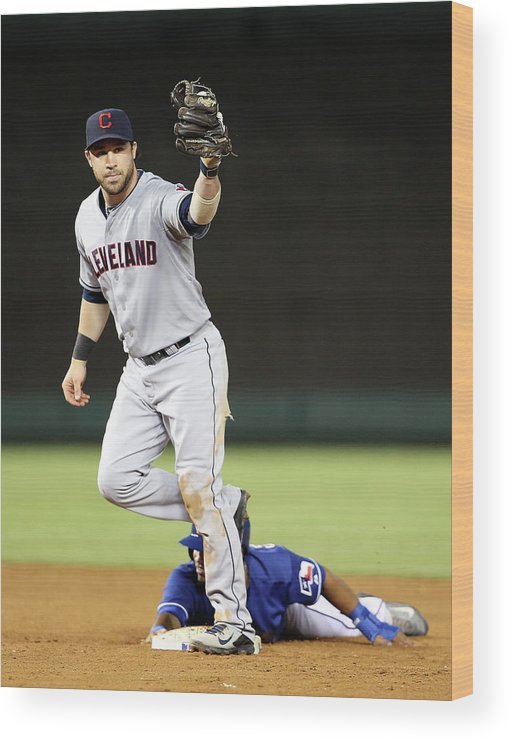 American League Baseball Wood Print featuring the photograph Asdrubal Cabrera by Rick Yeatts