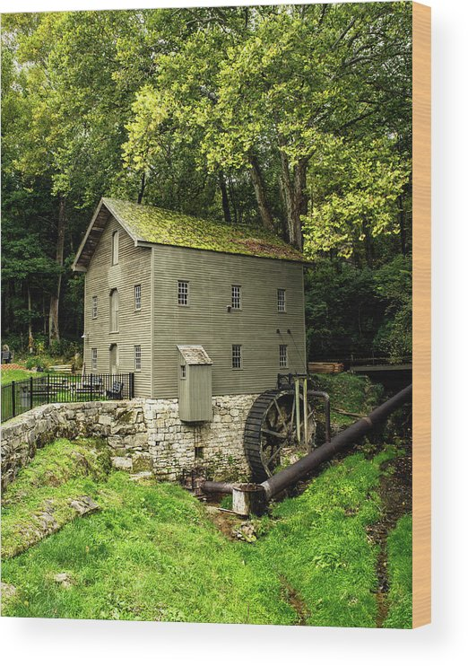 Grist Mill Wood Print featuring the photograph Beck's Mill - Salem, Indiana by Scott Smith