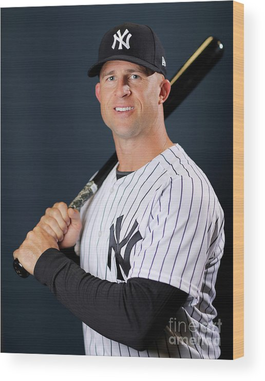 People Wood Print featuring the photograph Brett Gardner by Elsa