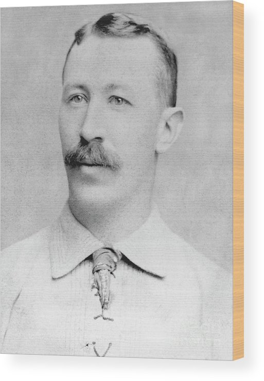 1880-1889 Wood Print featuring the photograph Buck Ewing by National Baseball Hall Of Fame Library