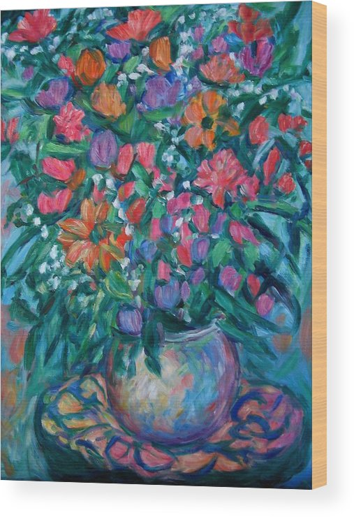 Floral Paintings Wood Print featuring the painting Dream Bouquet by Kendall Kessler