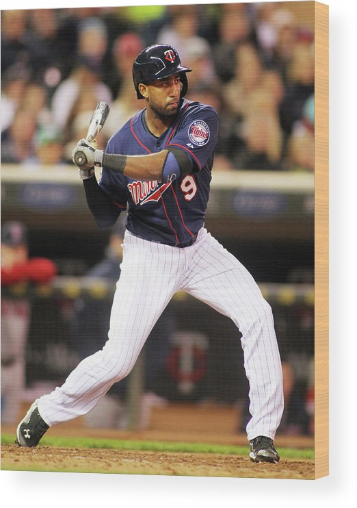 American League Baseball Wood Print featuring the photograph Eduardo Nunez by Andy King