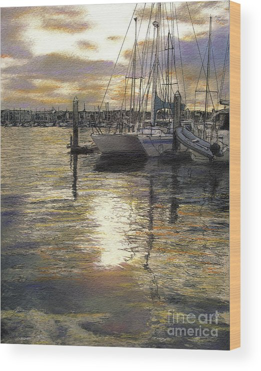 Reflections Wood Print featuring the pastel Hiolani II by Randy Sprout