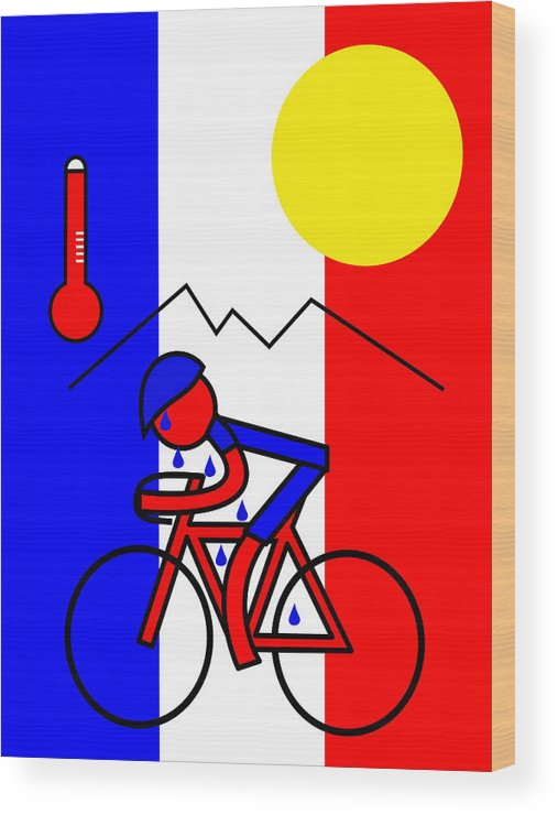 Hot In France Wood Print featuring the mixed media Hot in France by Asbjorn Lonvig