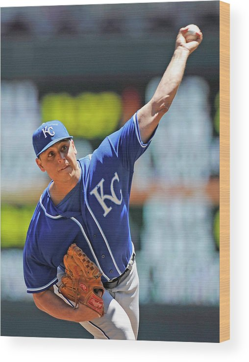 Second Inning Wood Print featuring the photograph Jason Vargas by Hannah Foslien