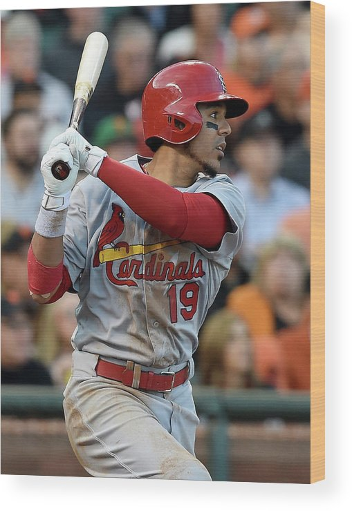 St. Louis Cardinals Wood Print featuring the photograph Jon Jay by Thearon W. Henderson