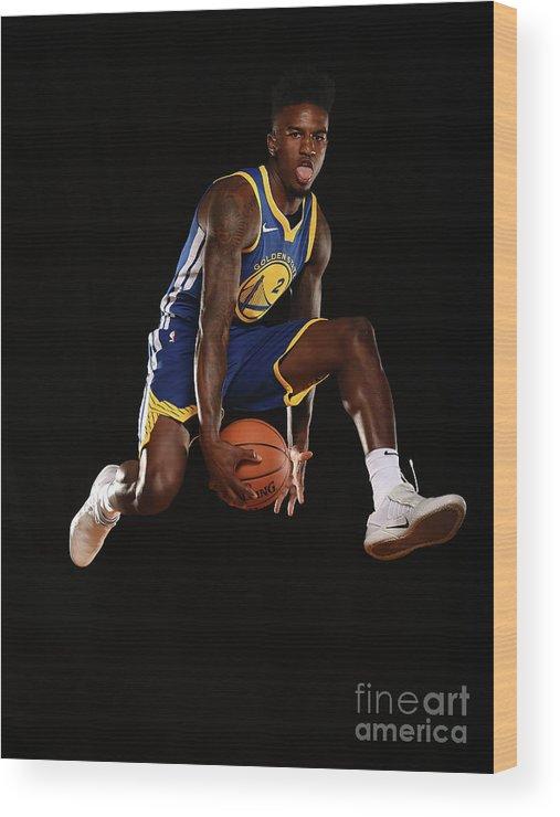Nba Pro Basketball Wood Print featuring the photograph Jordan Bell by Brian Babineau