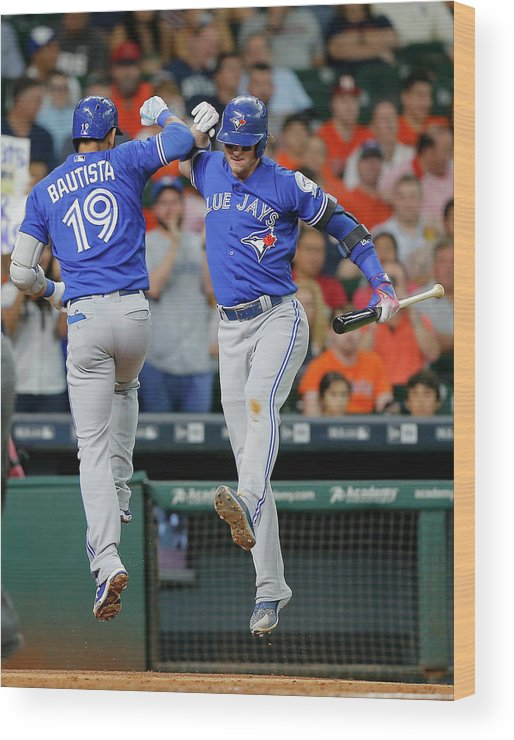 People Wood Print featuring the photograph Josh Donaldson by Bob Levey