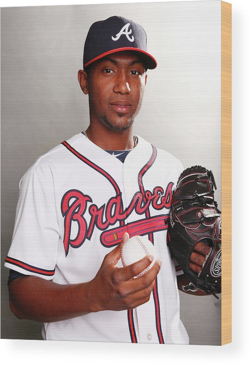 Media Day Wood Print featuring the photograph Julio Teheran by Elsa
