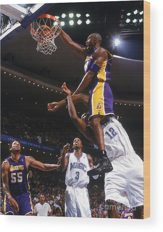 Nba Pro Basketball Wood Print featuring the photograph Kobe Bryant and Dwight Howard by Fernando Medina