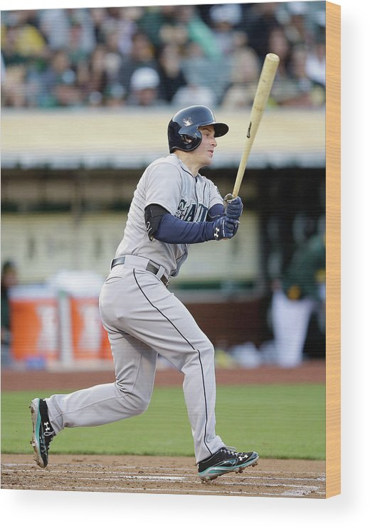 American League Baseball Wood Print featuring the photograph Kyle Seager by Ezra Shaw