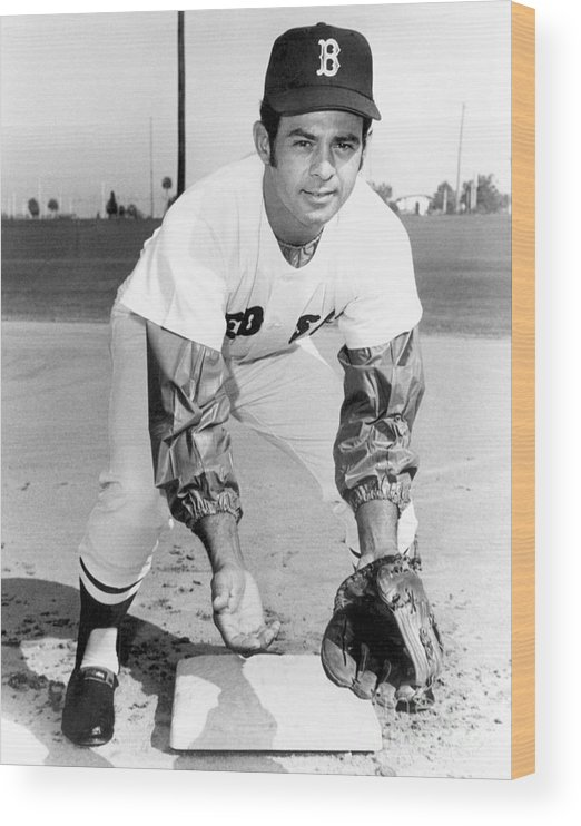 National League Baseball Wood Print featuring the photograph Luis Aparicio by National Baseball Hall Of Fame Library