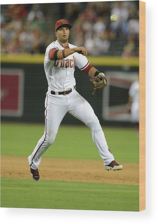 American League Baseball Wood Print featuring the photograph Martin Prado by Norm Hall