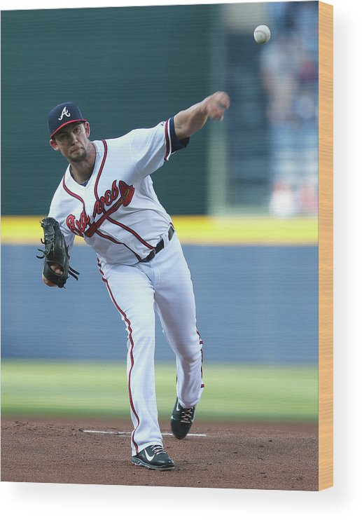 Atlanta Wood Print featuring the photograph Mike Minor by Kevin C. Cox