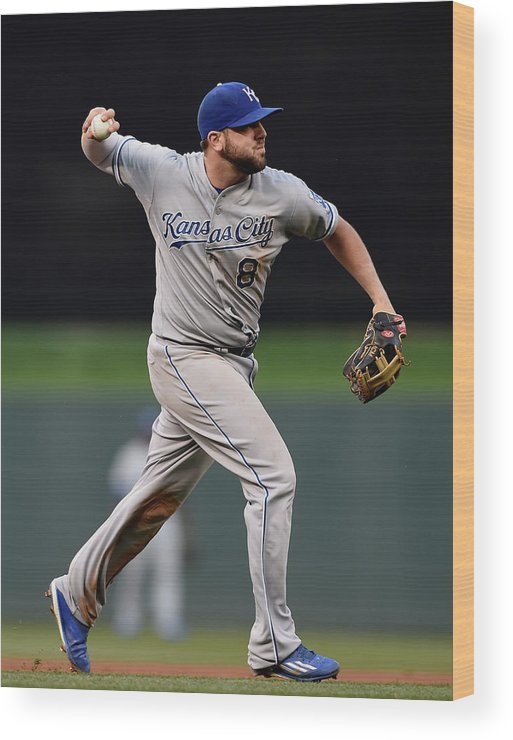 People Wood Print featuring the photograph Mike Moustakas and Trevor Plouffe by Hannah Foslien