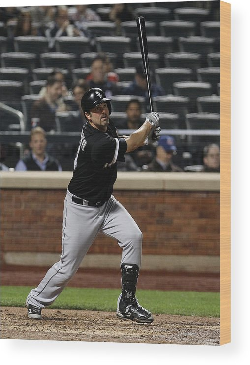 American League Baseball Wood Print featuring the photograph Paul Konerko by Mike Stobe