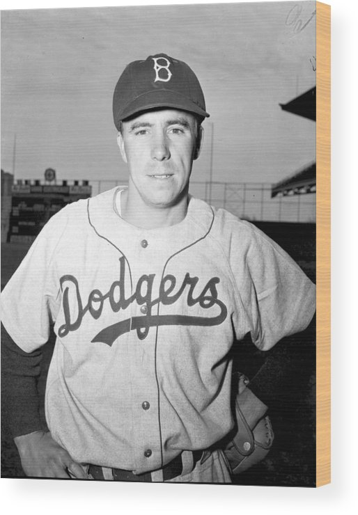 People Wood Print featuring the photograph Pee Wee Reese by Kidwiler Collection